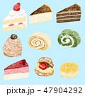 水彩 ケーキ スイーツのイラスト 47904292