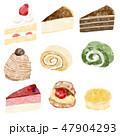 ケーキ スイーツ デザートのイラスト 47904293