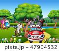 ウサギ 車 自動車のイラスト 47904532