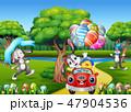 ウサギ ヒナ 雛のイラスト 47904536