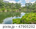 縮景園 濯纓池 大名庭園の写真 47905202