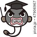 鰻 博士 魚のイラスト 47906967