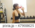 フィットネス トレーニング 女性の写真 47908625