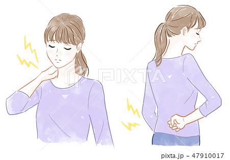 首と腰の痛み 47910017