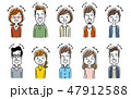 ベクター 女性 複数のイラスト 47912588