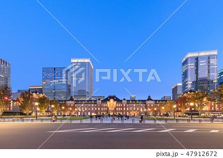 東京駅_丸の内駅舎夜景 47912672
