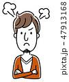 若い男性:怒る、怒り 47913168
