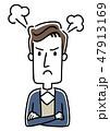 若い男性:怒る、怒り 47913169