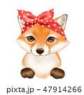 きつね キツネ 狐のイラスト 47914266