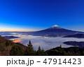 山梨_夜明けの富士山 47914423