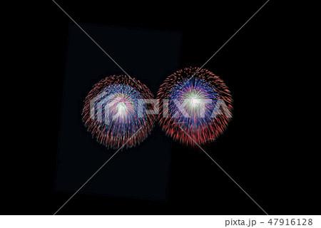 花火の黒背景素材 47916128