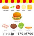 ハンバーガーセット 47916799