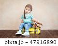 子 子供 航空機の写真 47916890