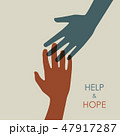 Earth tone color help and hope hands template 47917287