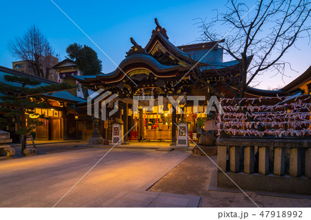 Kushida Shrine at night in Hakata, Fukuoka - Japan 47918992