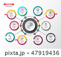 Circle Infographic Layout with Paper Labels. 47919436
