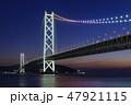 兵庫県・明石海峡大橋の夜景 47921115