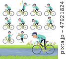 flat type man Blue green Sportswear_road bike 47921824