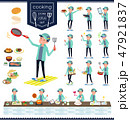男性 スポーツウエア 料理のイラスト 47921837
