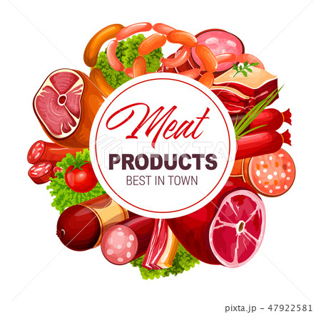 Meat and sausages butcher shop grocery products 47922581