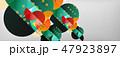 ジオメトリック 幾何学的 抽象的のイラスト 47923897