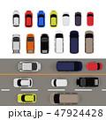 自動車 車 真俯瞰のイラスト 47924428
