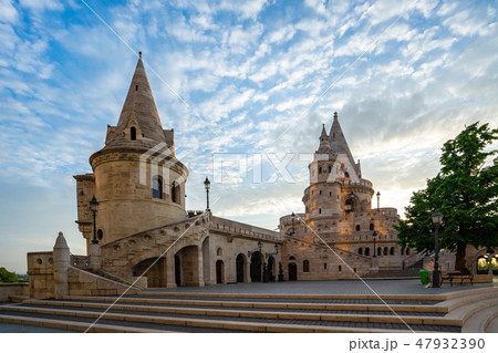 Fisherman's Bastion in Budapest city, Hungary 47932390