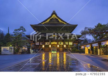 Zenkoji Temple at night in Nagano, Japan 47932393