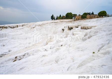 Pamukkale cotton castle in Denizli, Turkey 47932436