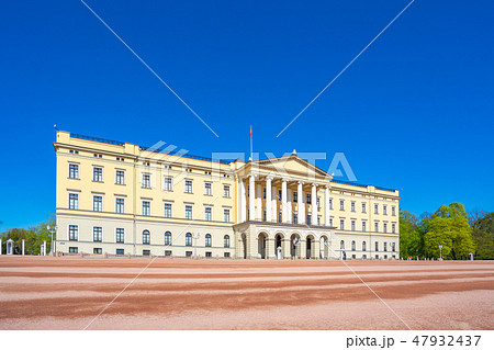 The Royal Palace in Oslo city, Norway 47932437
