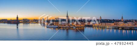 Stockholm skyline at twilight in Stockholm, Sweden 47932445