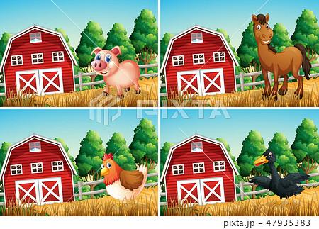 Set of farm animal 47935383