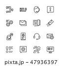 イコン 電話をする 呼ぶのイラスト 47936397