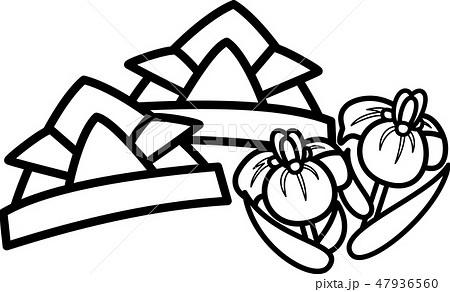 端午の節句 折り紙の兜 菖蒲 ぬり絵のイラスト素材