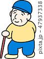 歩くおじいちゃん 47937338