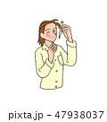 白バック 女性 人物のイラスト 47938037