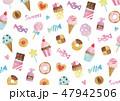 お菓子 スイーツ 背景のイラスト 47942506