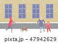 冬 ベクトル 街路のイラスト 47942629