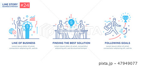Set of illustrations concept with business concept 47949077