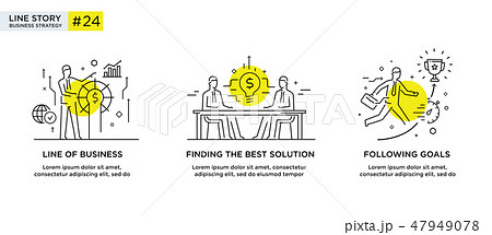 Set of illustrations concept with business concept 47949078