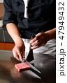 ステーキ 肉料理 牛肉の写真 47949432