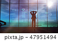 Male silhouette and stock exchange animation 47951494