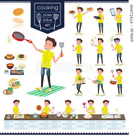 flat type men yellow sportswear_cooking 47951940