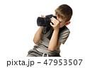 少年 カメラ カメラマンの写真 47953507