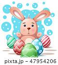 うさぎ ウサギ 兎のイラスト 47954206