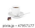 コーヒー お菓子 ドリンクの写真 47957177
