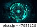 人工知能 AI テクノロジーのイラスト 47958128