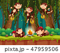 Monkey at the wild forest 47959506