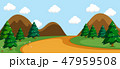 A simple nature road scene 47959508
