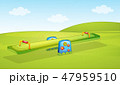 A seesaw playground background 47959510